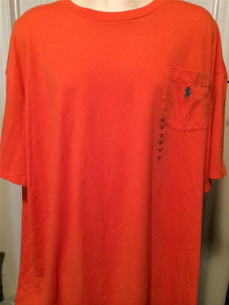 New Polo Ralph Lauren Classic Big And Tall Pocket T Shirt
