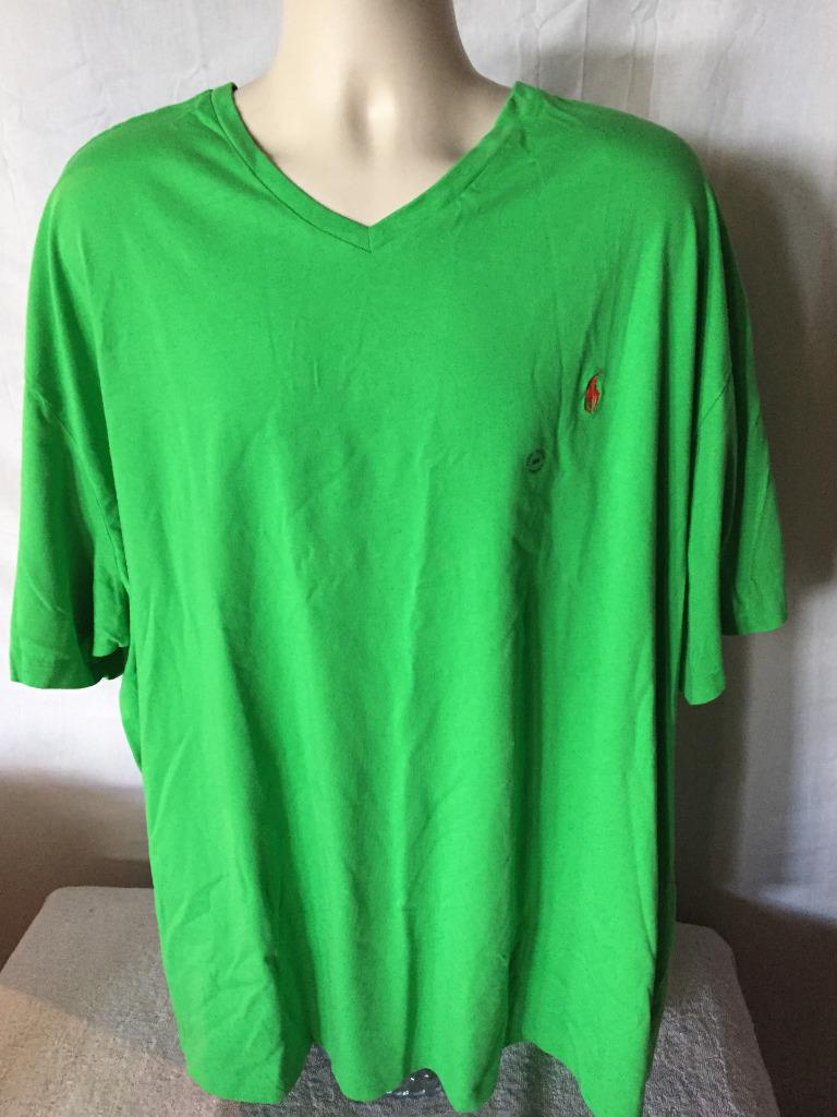 New polo ralph lauren big and tall v neck t shirt 3xl 4xl for Large v neck t shirts