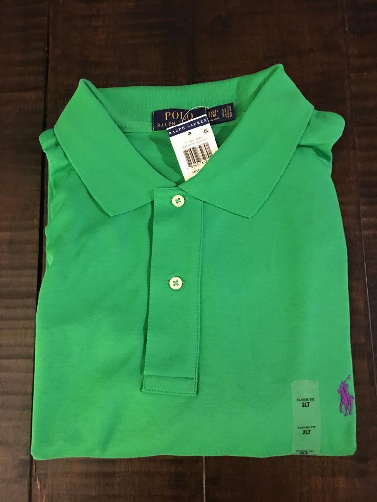 New polo ralph lauren big and tall interlock polo shirt 3x for Big size polo shirts