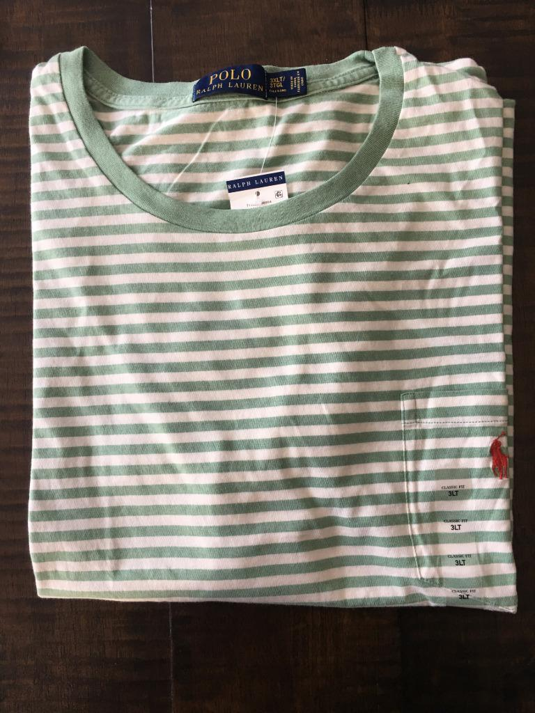 New Polo Ralph Lauren Big And Tall Pocket T Shirt Striped