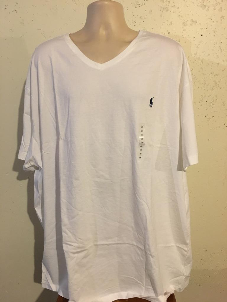 New polo ralph lauren big and tall v neck t shirt 3xb 4xb for Big and tall polo t shirts