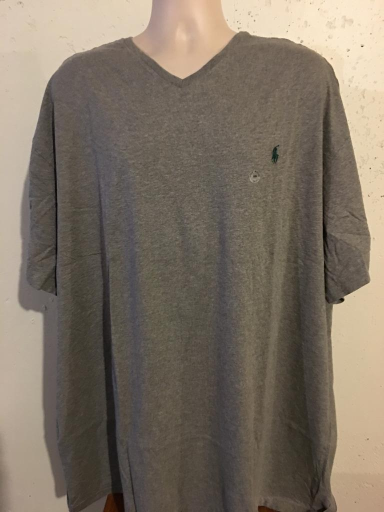 New polo ralph lauren big and tall v neck t shirt 3xb 4xb for Large v neck t shirts