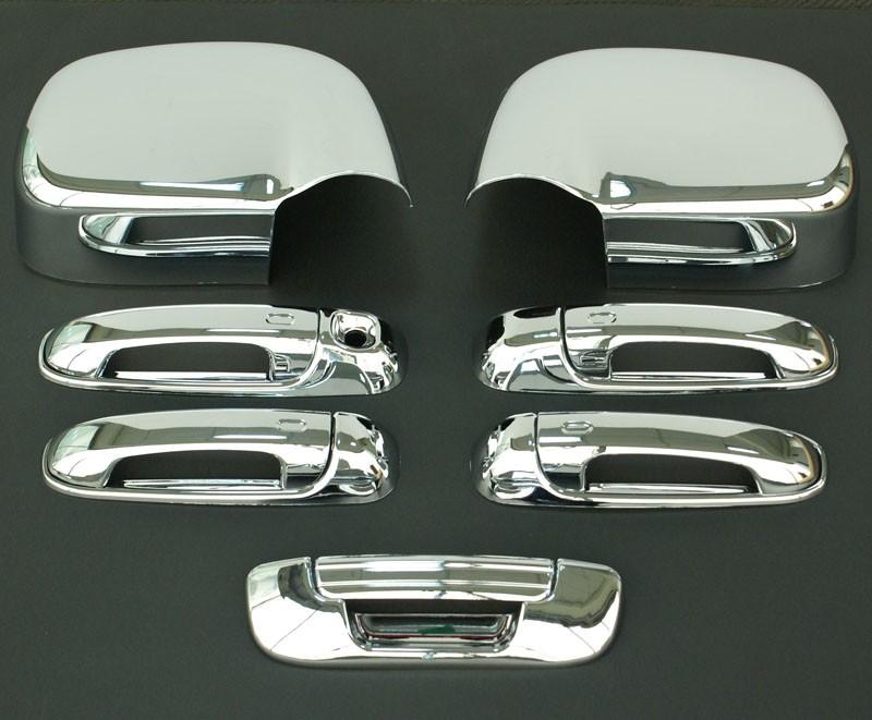 2002 2008 Dodge RAM Chrome Door Handle Mirror Tailgate