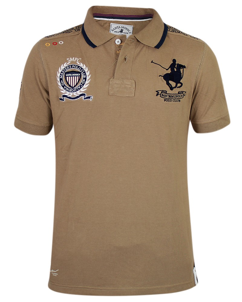 Mens Horse Polo Shirt Santa Monica Polo Club Sport T Shirt