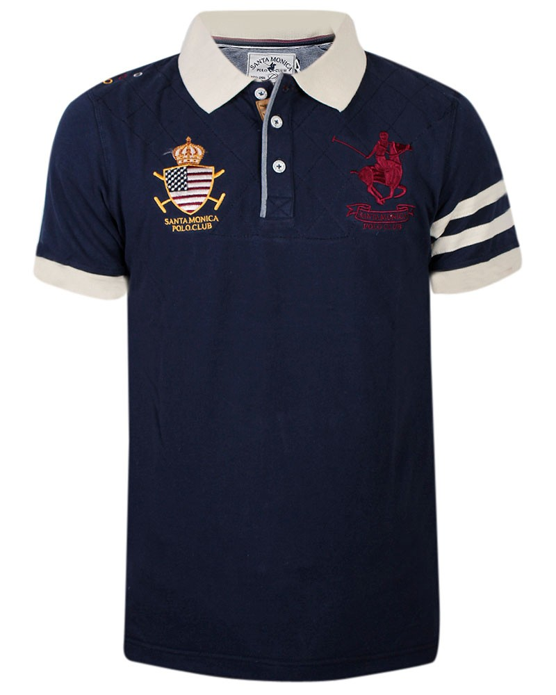 mens slim fit polo shirt horse polo t shirt contrast