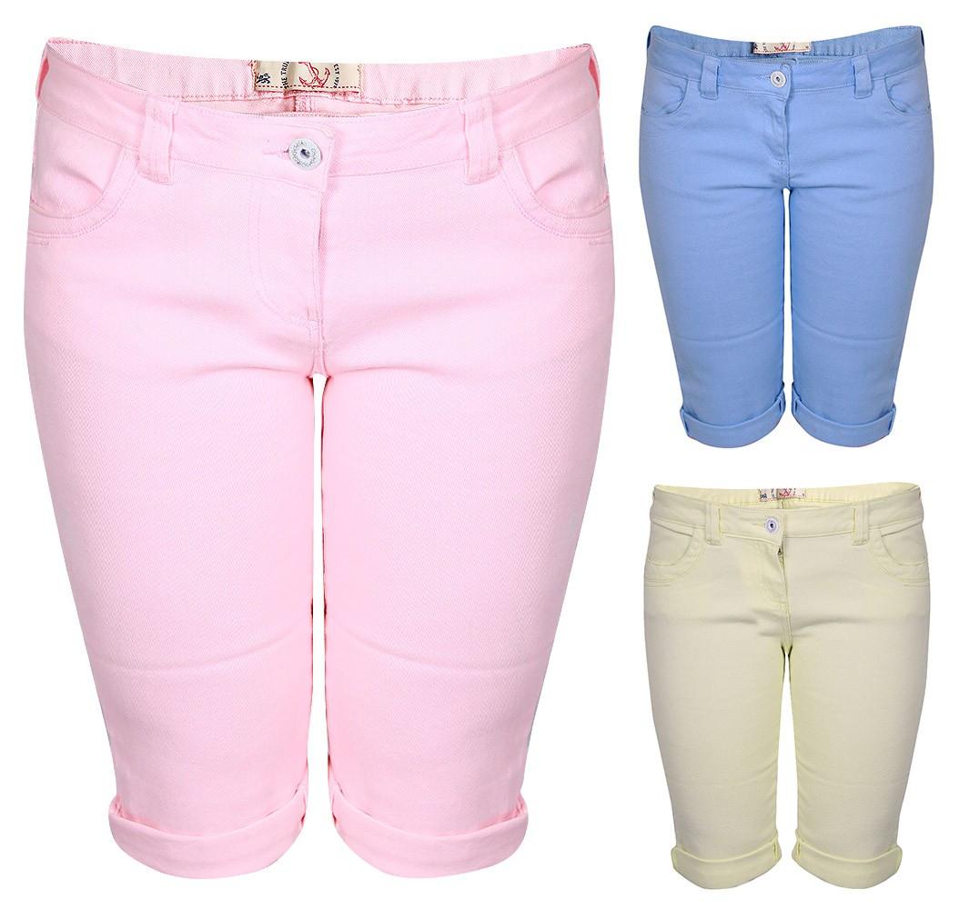 Womens-Shorts-Ladies-Brave-Soul-Denim-Knee-Length-Vintage-Jean-Shorts