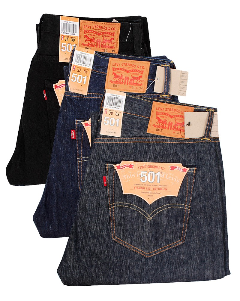 levis 501 men 39 s jeans levi 39 s gents strauss denim original fit straight leg jeans ebay. Black Bedroom Furniture Sets. Home Design Ideas