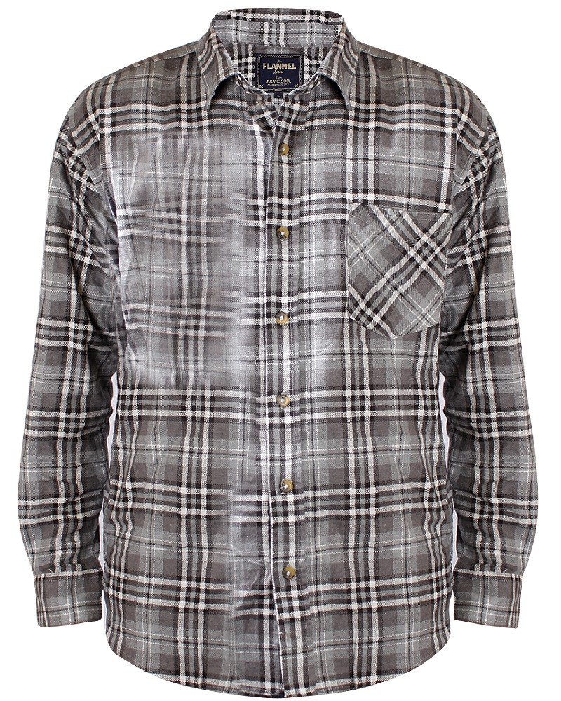 mens check flannel shirt gents lumberjack checked soft