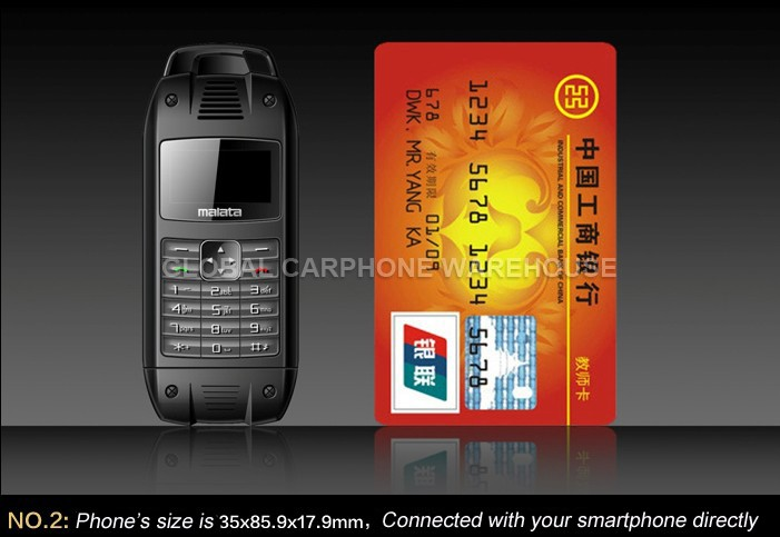 New Unlocked Super Cool Mini Mobile Phone Also Backup Power for Samsung HTC