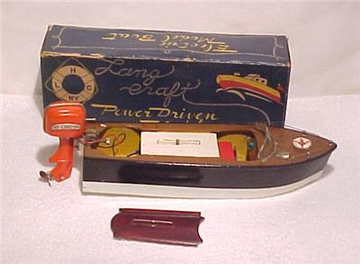 Vtg 1950 39 S Lang Craft Toy Model Battery Operated Boat