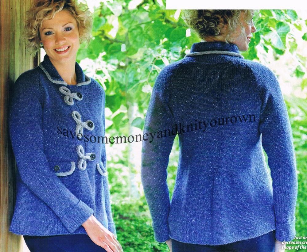 Classic tweed jacket.ladies knitting pattern eBay