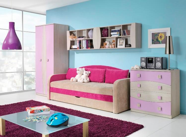 Children kids bedroom furniture set sofa bed wall unit - Sofa bed childrens bedroom ...