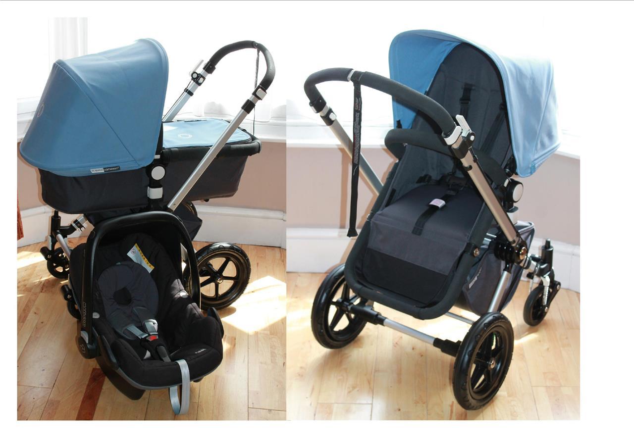 bugaboo cameleon ice blue complete travel system maxi. Black Bedroom Furniture Sets. Home Design Ideas