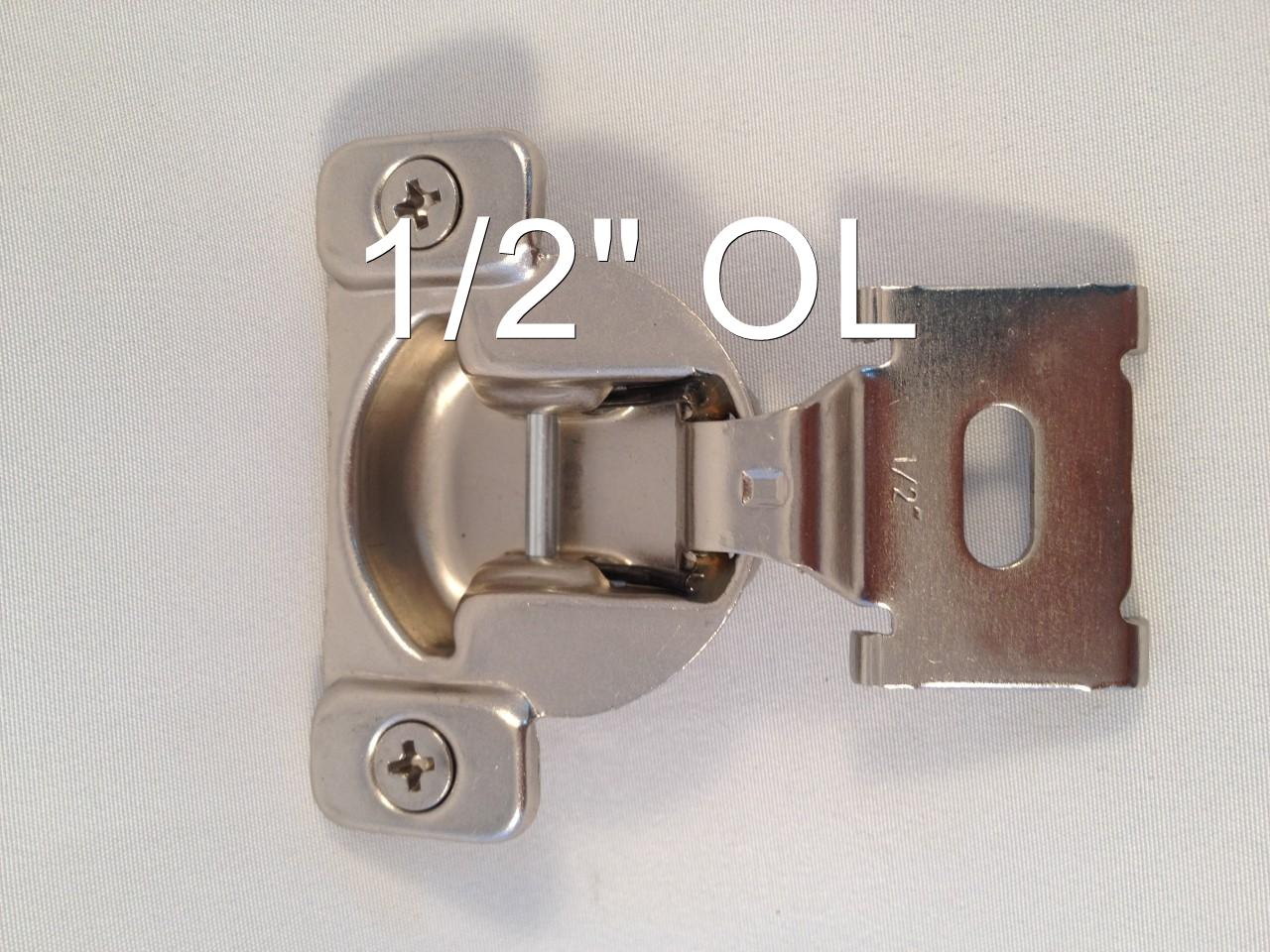 1 2 1 7 16 compact face frame kitchen cabinet hinge ebay for Kitchen cabinet hinges