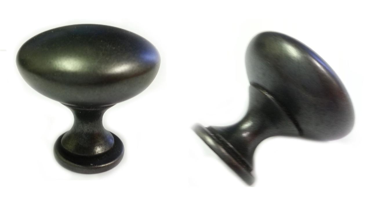 K 910 DACM ANTIQUE BLACK MUSHROOM KITCHEN CABINET KNOBS