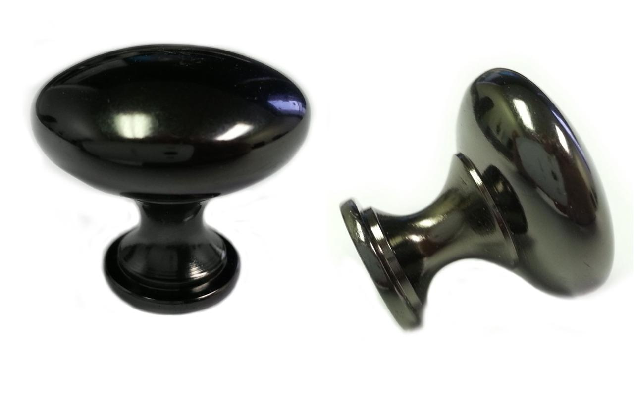 25pcs black nickel mushroom kitchen cabinet knobs 30mm 1 1 4 ebay. Black Bedroom Furniture Sets. Home Design Ideas