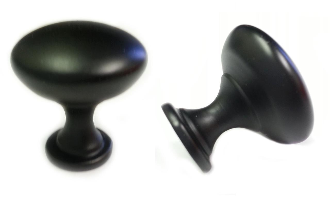 25pcs MATT BLACK MUSHROOM KITCHEN CABINET KNOBS 30mm 1 3 16