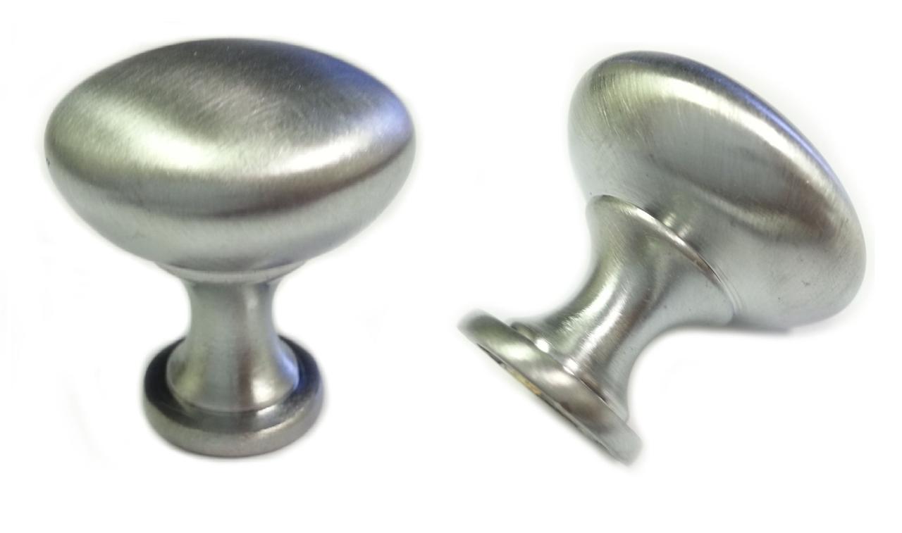25pcs Satin Chrome Mushroom Kitchen Cabinet Knobs 30mm 1 1