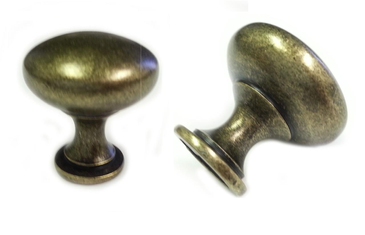 25pcs antique brass mushroom kitchen cabinet knobs 30mm