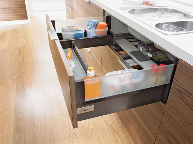 Keukenlade Accessoires : Blum Tandembox Plus R+L Zarge Premium Metal Drawer