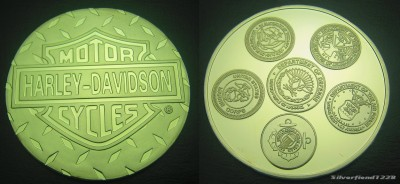 Oz Ounce Silver Harley Davidson Logo Round Coin 100M  FREE