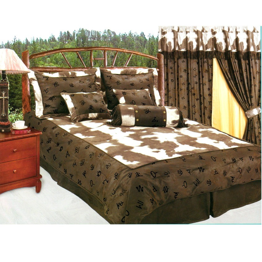 Western decor rustic cow cattle ranch brands cowhide for Western decor