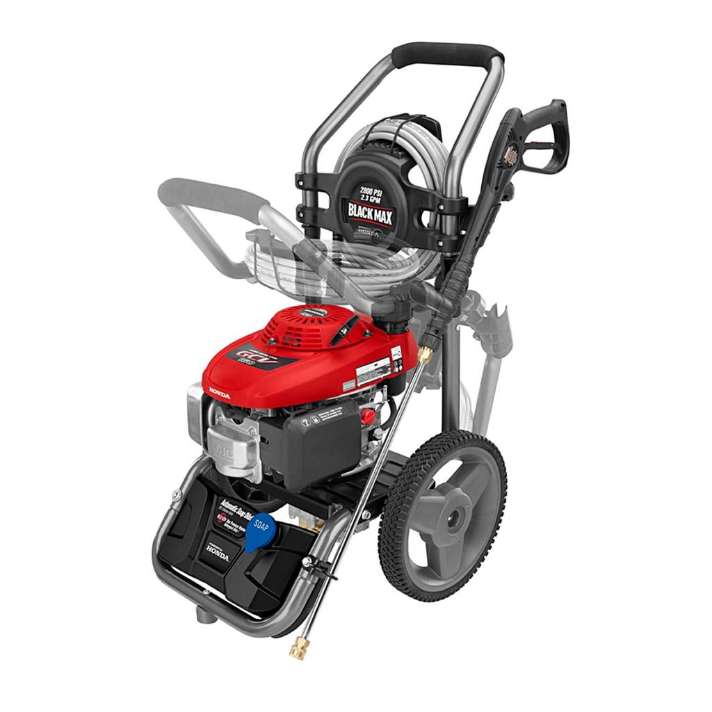 black max 2800 psi gasoline power pressure washer honda