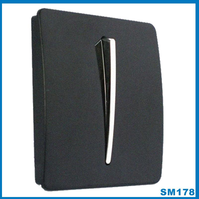black gloss with chrome button designer light switch 1 2 or 3 gang 2 way mode. Black Bedroom Furniture Sets. Home Design Ideas