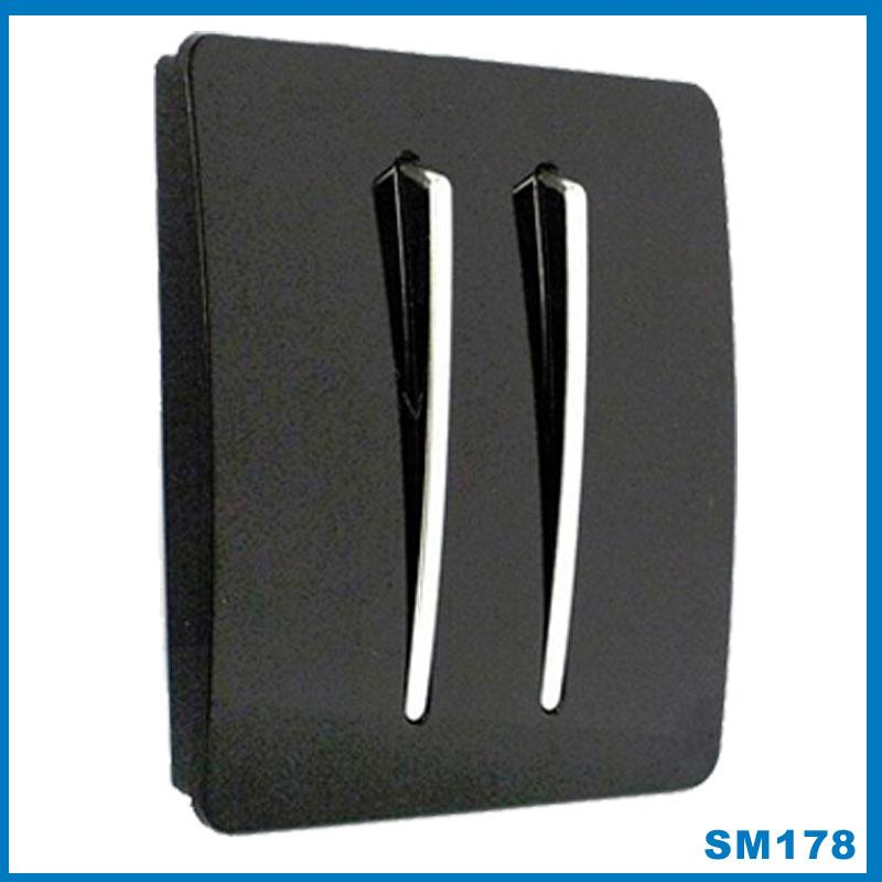 black gloss with chrome button designer light switch 1 2