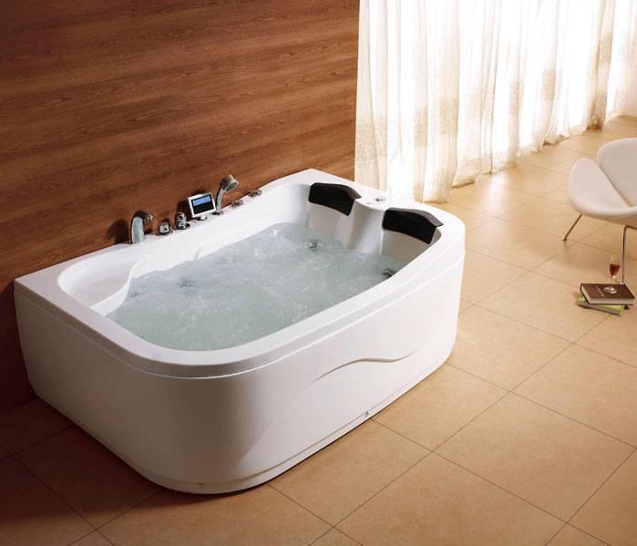 Whirlpool 2 Person Offsett Corner Bath Spa Jets Massage