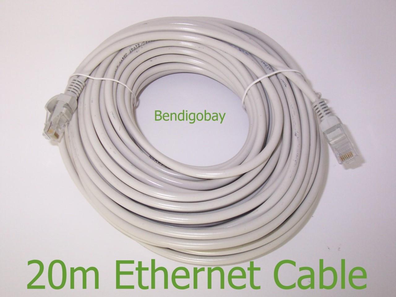 20m internet ethernet cable lead ebay. Black Bedroom Furniture Sets. Home Design Ideas