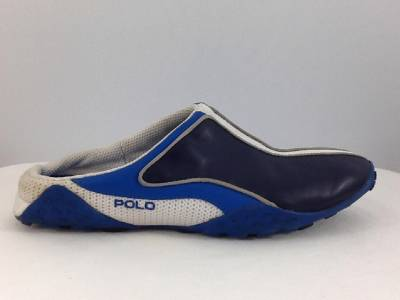 Women's POLO blue leather sneakers