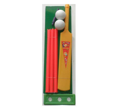 KIDS-BEACH-CRICKET-SET-PLASTIC-CRICKET-BAT-STUMPS-BAILS-BALL