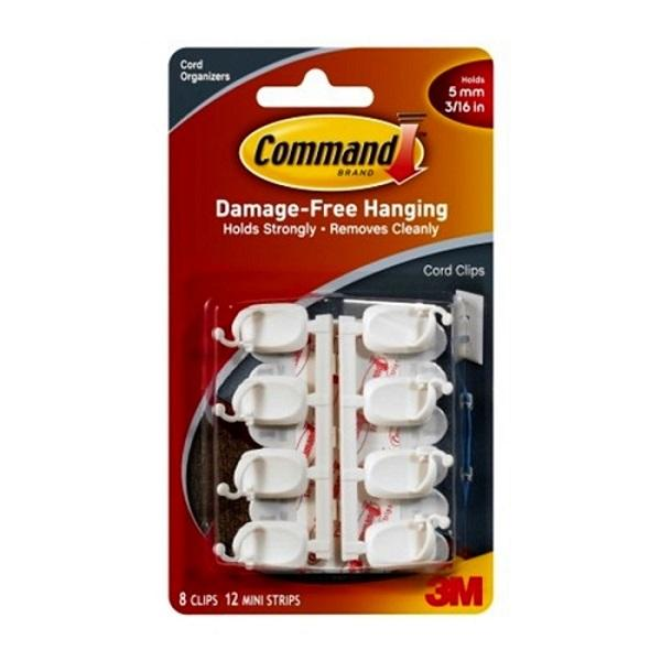 Five 5x 3m Command Cable Wire Cord Management Clips