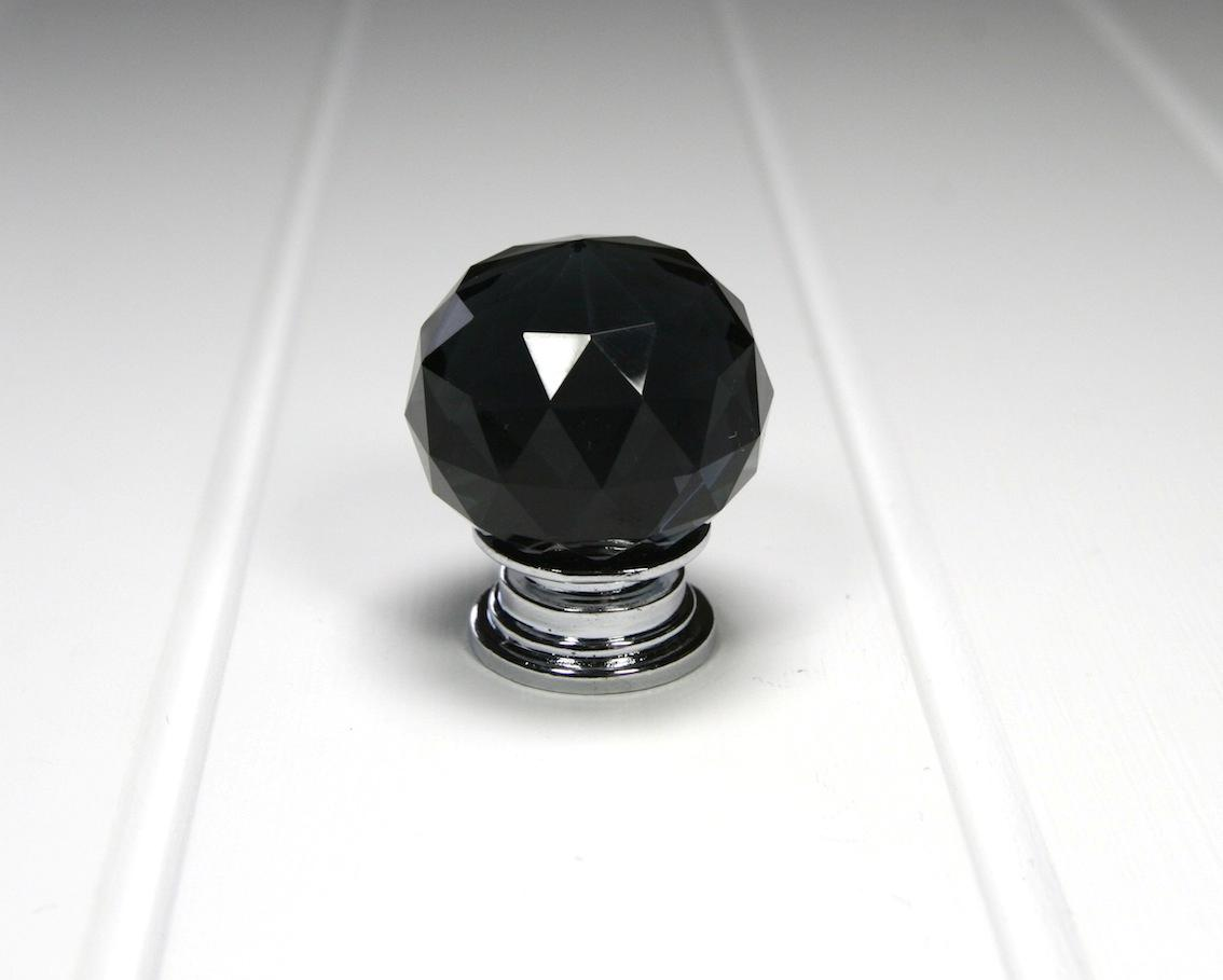 Door-Knob-Black-Crystal-Glass-Kitchen-Door-Knobs-Cupboard-door-knobs-AUST-SELLER