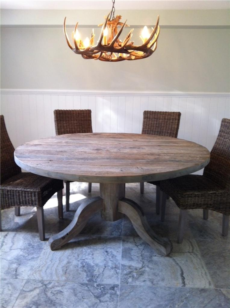 round dining table solid elm dining table french dining table seats 4