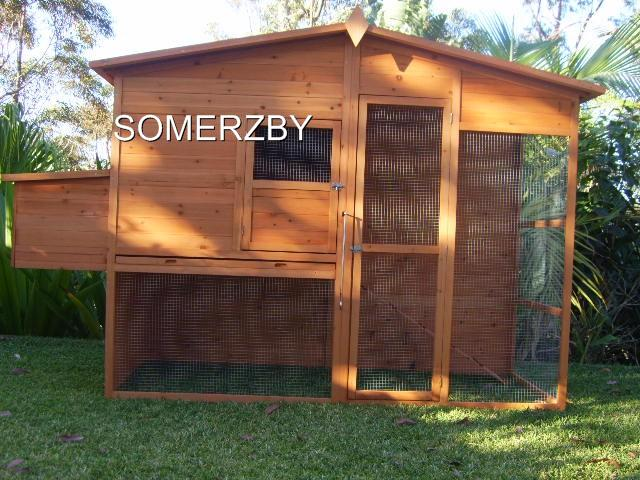 Chicken-Coop-Rabbit-Hutch-Cat-Enclosure-Cage-Run-EXTRA-LARGE-Somerzby-MANOR
