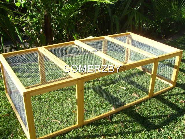 LARGE-Run-Rabbit-Hutch-Extention-Guinea-Pig-fits-VILLA-coop-house-chicken-cage