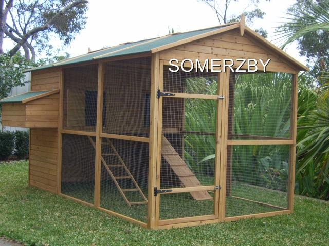 Chicken-Coop-Cat-Enclosure-Rabbit-Hutch-cage-run-EXTRA-LARGE-Somerzby-HOMESTEAD