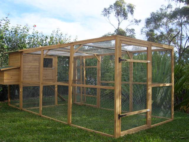 Chicken coop cat enclosure somerzby manor large run rabbit for Chicken enclosure ideas