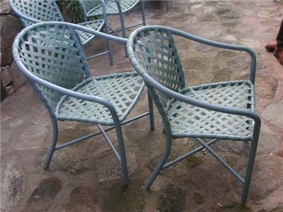 4 vintage brown jordan english garden patio furniture