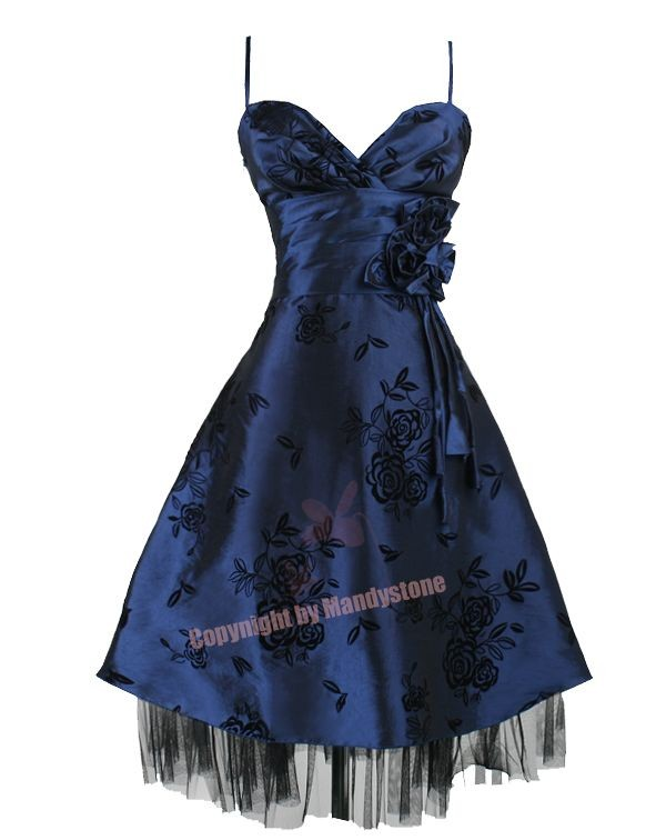 Pleated V Neck Embroidered Floral Party Dress S M L XL 18 20