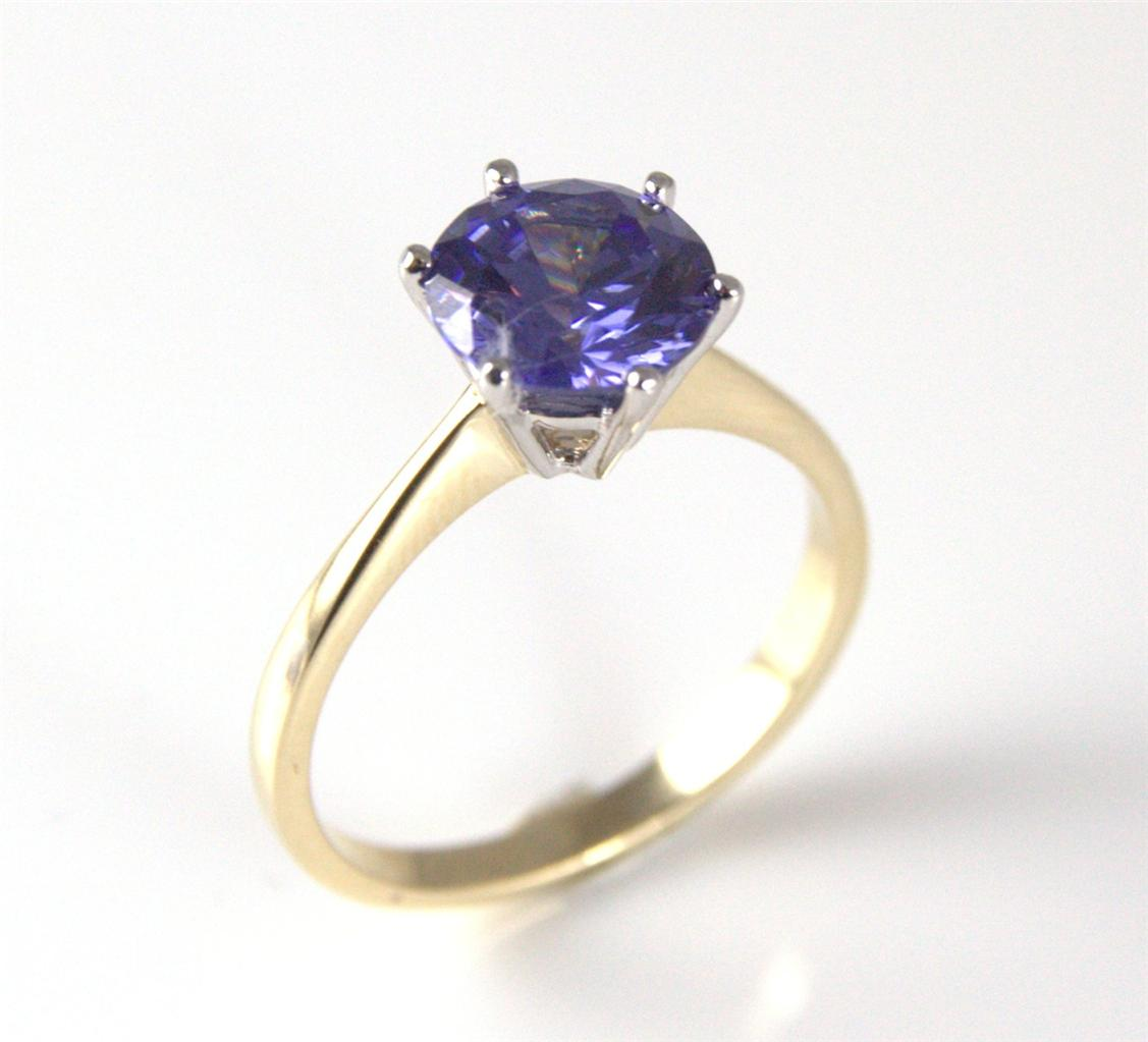 tanzanite unique 2ct solitaire ring 9ct gold ebay