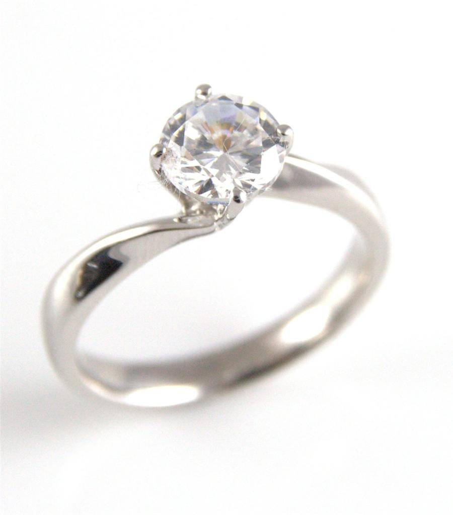 unique 1ct twist shank engagement ring solid