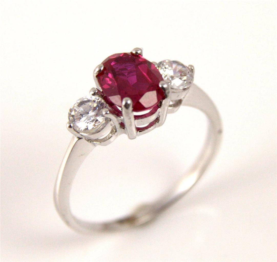 unique ruby trilogy ring 9ct gold ebay