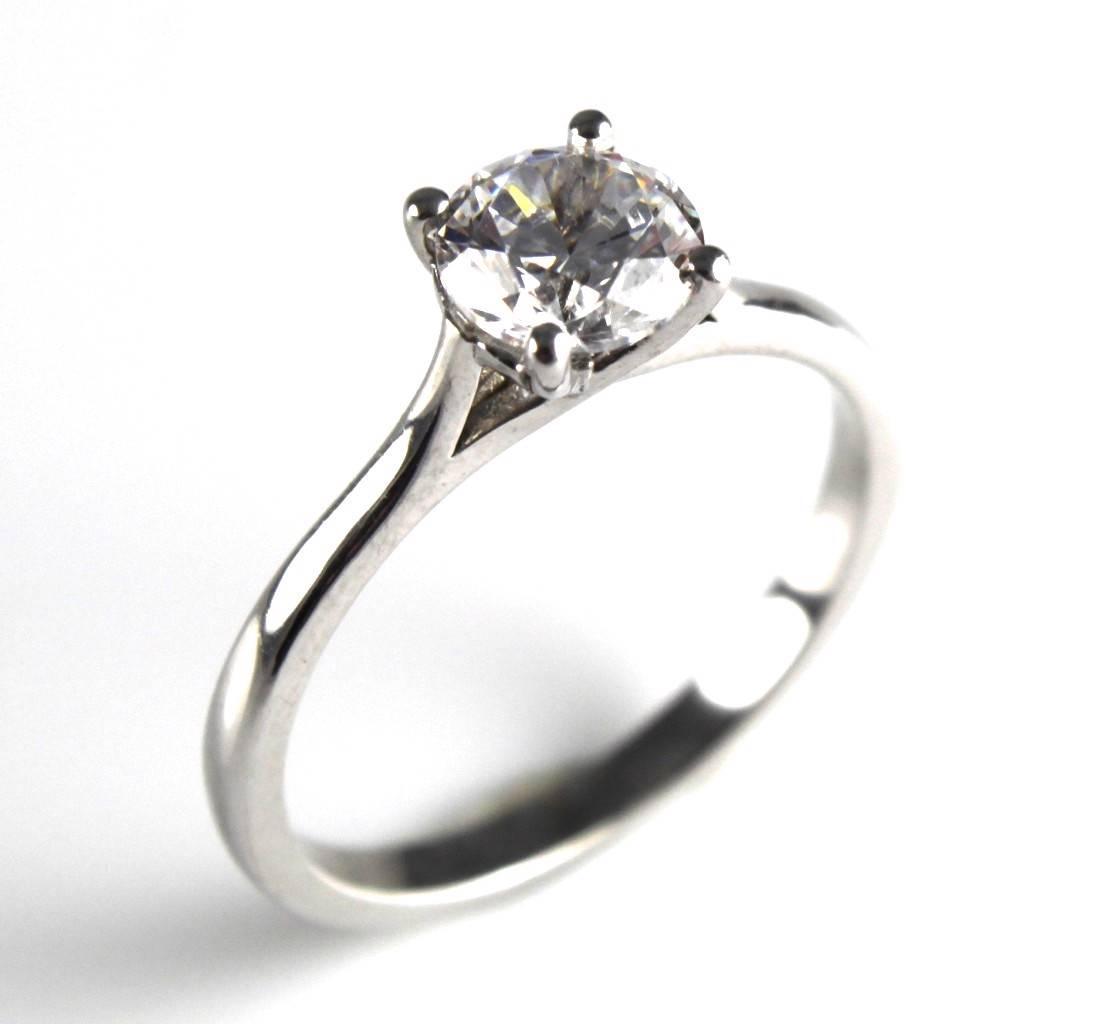 diamond unique1ct solid silver rhodium platinum engagement With rhodium wedding rings