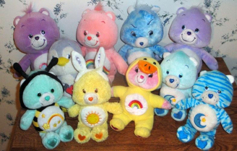 lot of 10 care plush 10 8 dolls toys tye dye grumpy