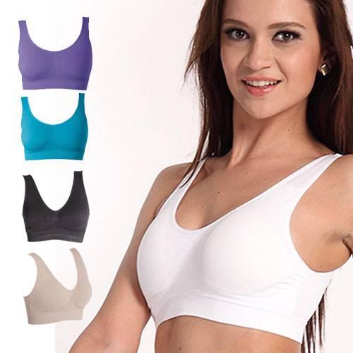 NEW-Seamless-Sports-Style-Bra-Crop-Top-Vest-Comfort-Stretch-Bras-Shapewear