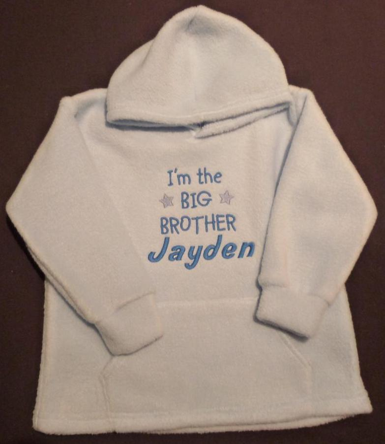 Personalised-Big-Brother-Embroidered-Baby-Toddler-Boy-Fleece-Hoodie-Top-Blue