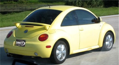 1998 2010 vw beetle euro style 2 post rear wing spoiler unpainted new ebay. Black Bedroom Furniture Sets. Home Design Ideas
